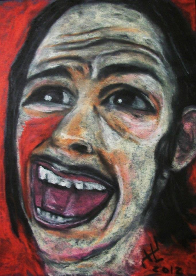 johnny hellion the texas chainsaw massacre 1974 hitchhiker oil pastel art.jpg