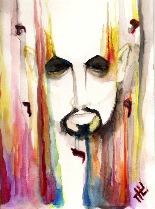 johnny hellion anton lavey church of satan watercolor painting art.jpg