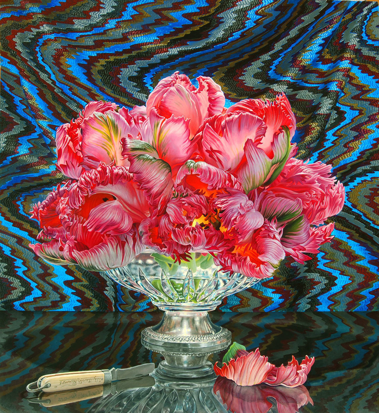 Eric Wert, parrot tulips, 24 x 20, oil on panel, 2013.jpg