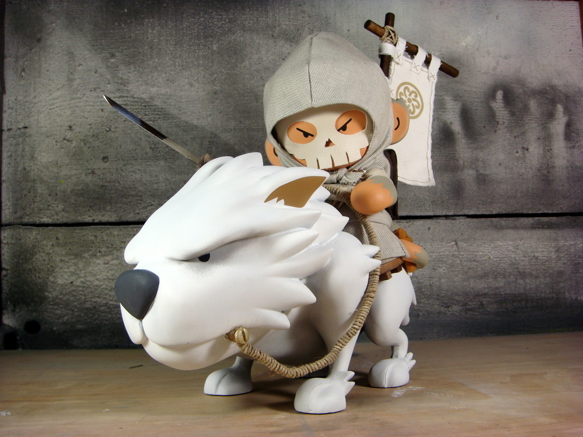 The Wolf Rider Custom Munny Vinyl Figure by Huck Gee.jpg