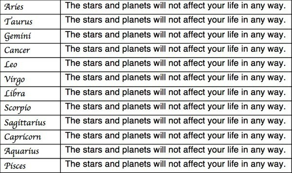 Accurate horoscope