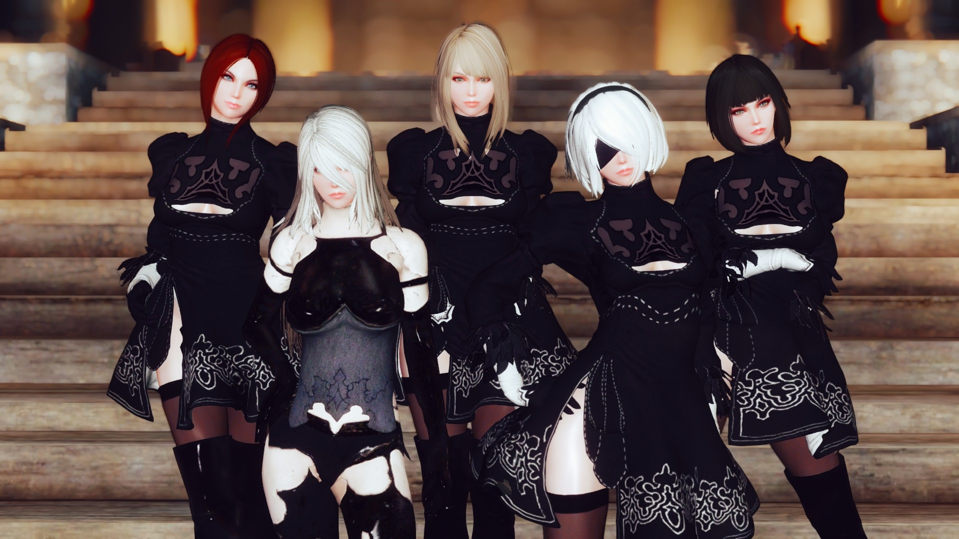 GK YoRHa Followers Dark Elf 2 L - onigiridaisuki | ello