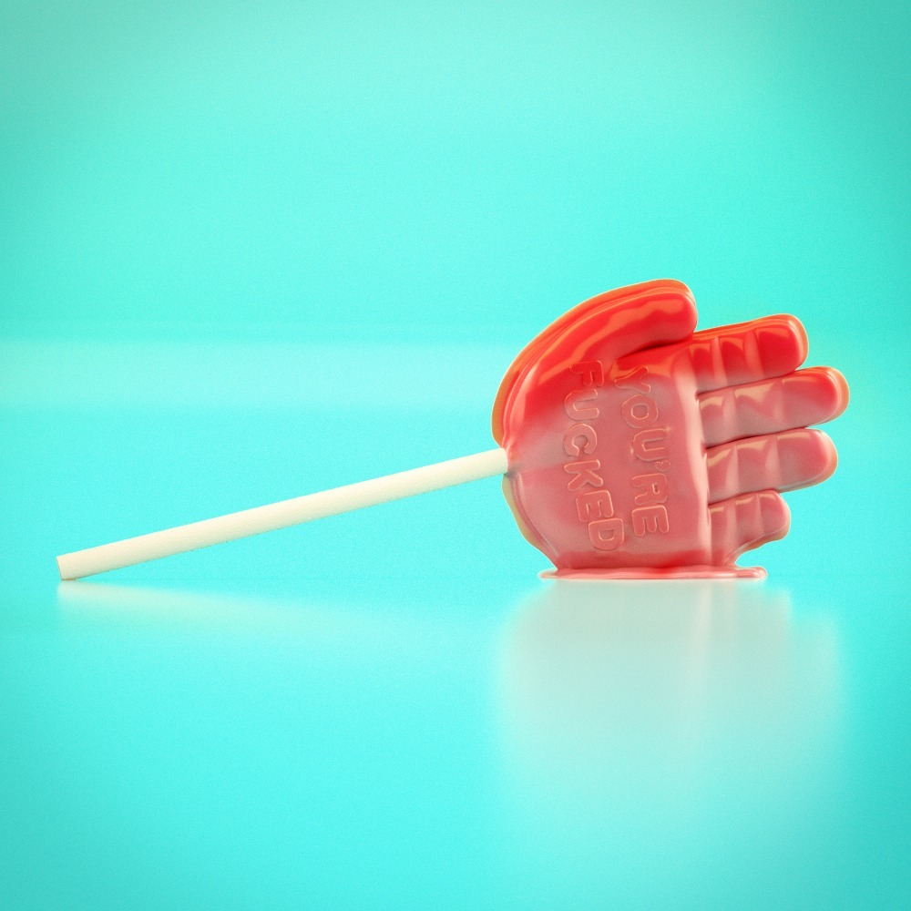 Lucky Hand Lollipop - c4d, cinema4d - tavshh | ello