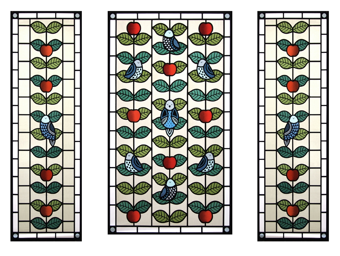 Contemporary stained glass fron - florajamieson | ello