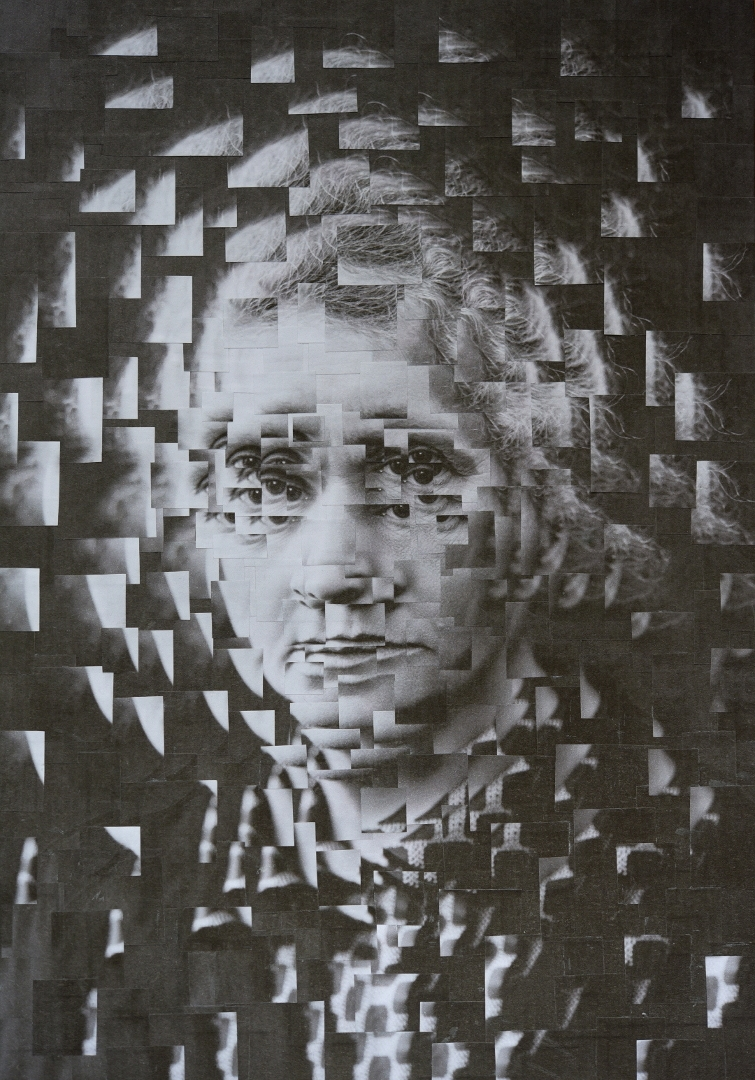 Marie Curie, 8.2 11.6 inches - collage - loladupre | ello